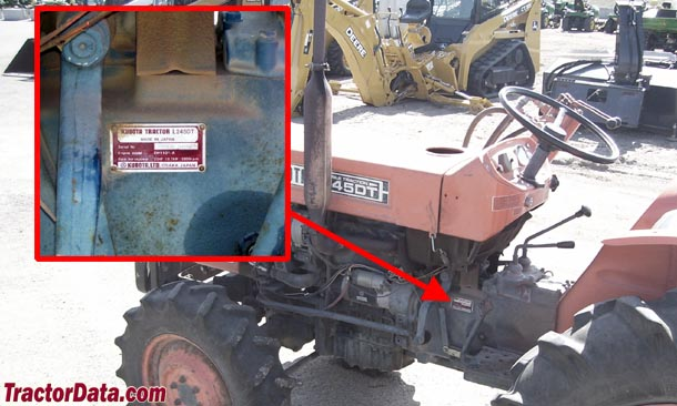 Kubota L245 serial number location