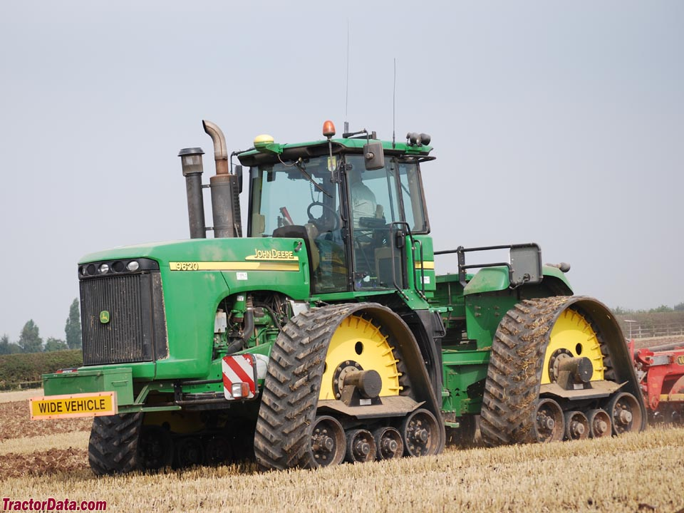 John Deere 9620 with after-market track system.