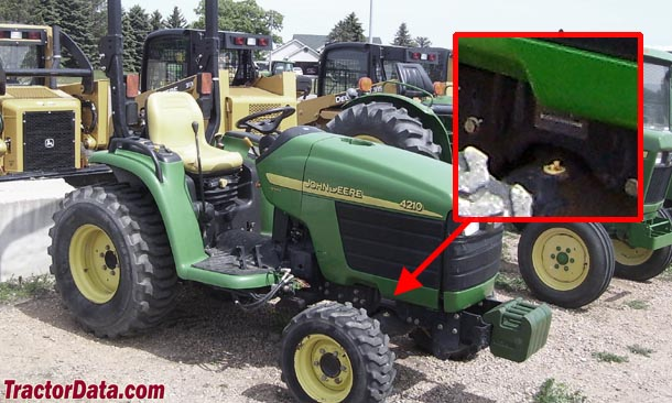 John Deere 4210 serial number location