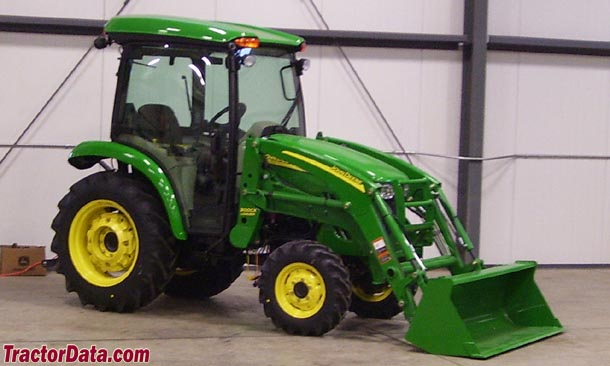 John Deere 3320 with cab and loader