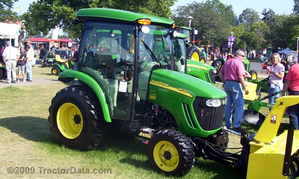 Left-side view of the Deere 3720