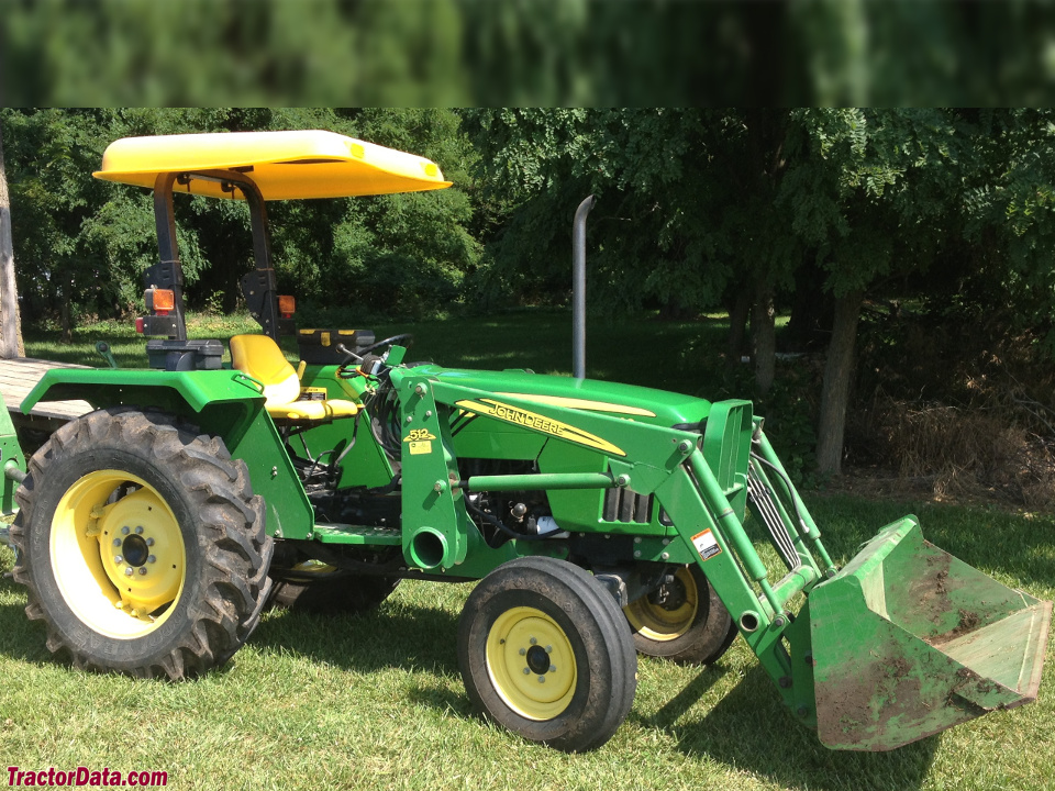 John Deere 5103 with model 512 front-end loader.