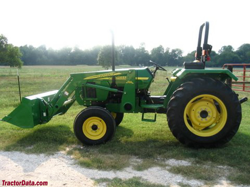 John Deere 5203 with model 512 front-end loader.