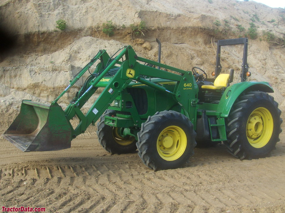 John Deere 6415, left side.