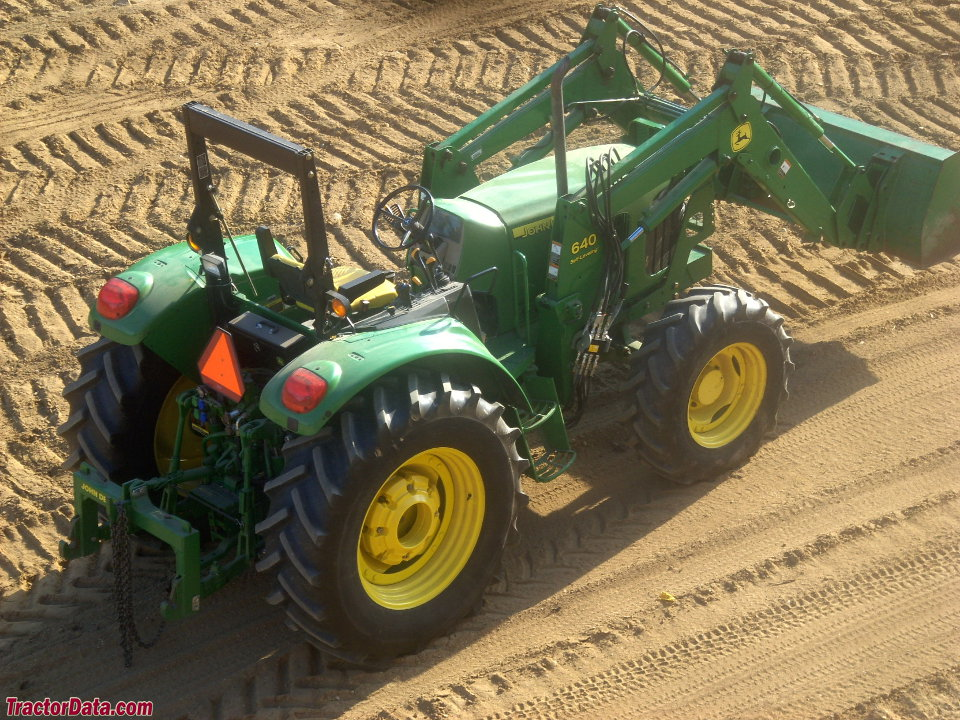 John Deere 6415, rear view.