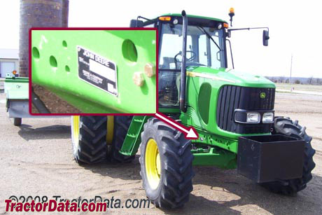 John Deere 6715 serial number location