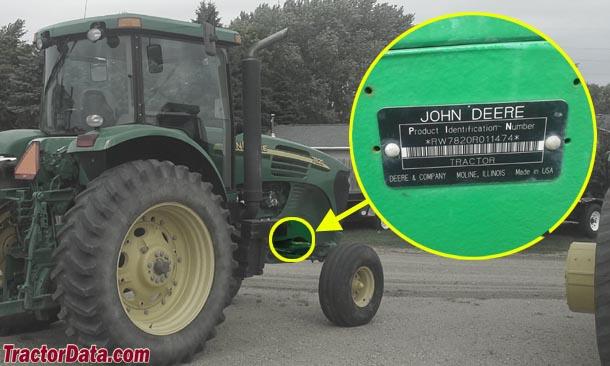 John Deere 7820 serial number location