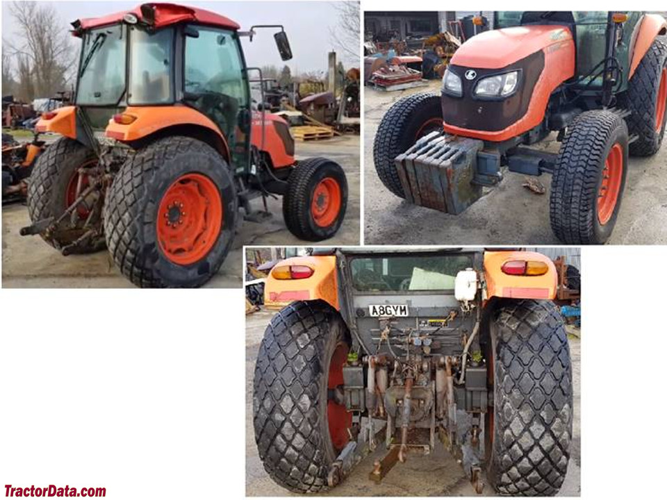 Right and rear of the Kubota M7040.