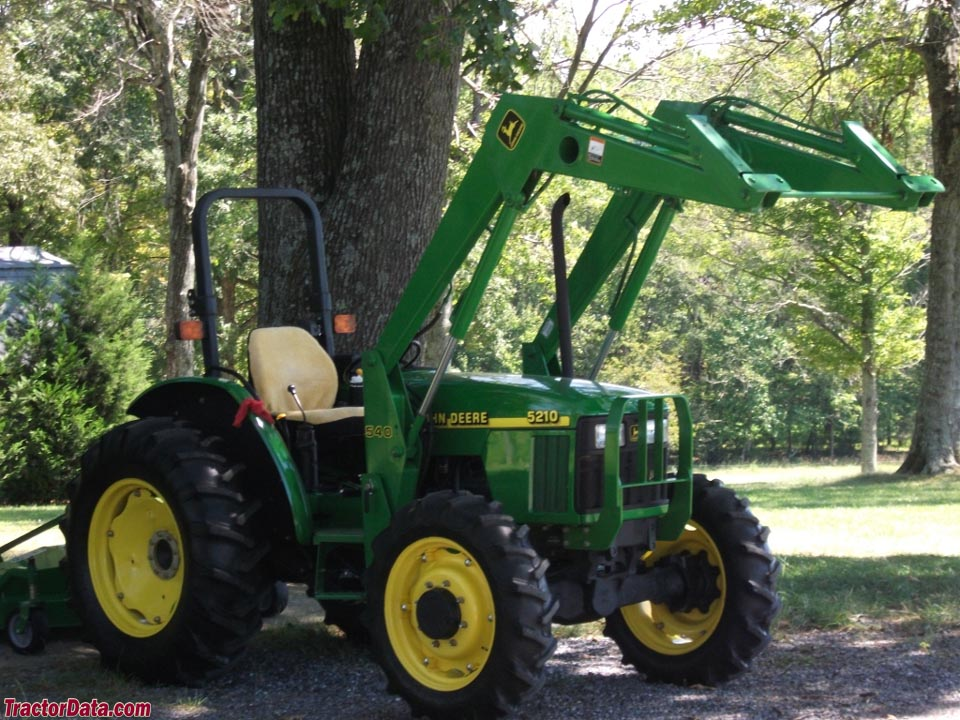 Left-front view of the John Deere 5210