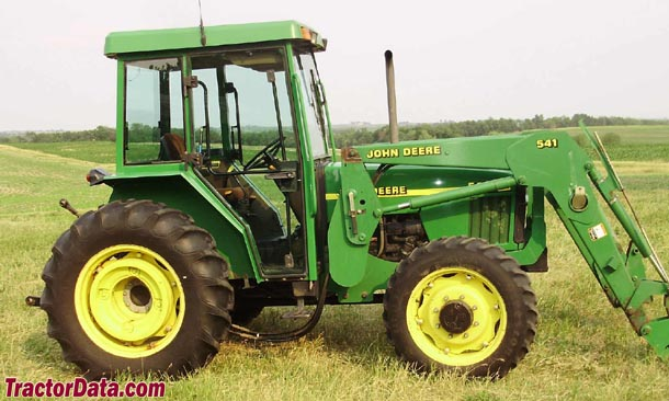Four-wheel drive John Deere 5410 with cab and model 541 loader