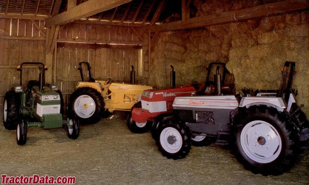 Advertising photo of the White American Series showing the four color options.