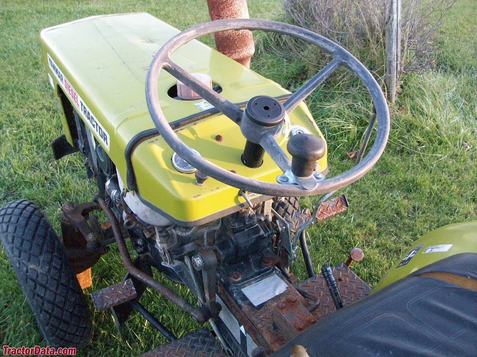 Yanmar YM155D operator station and controls.