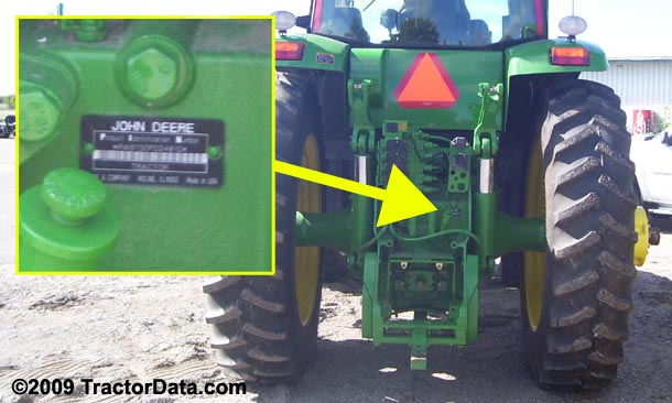 John Deere 8230 serial number location