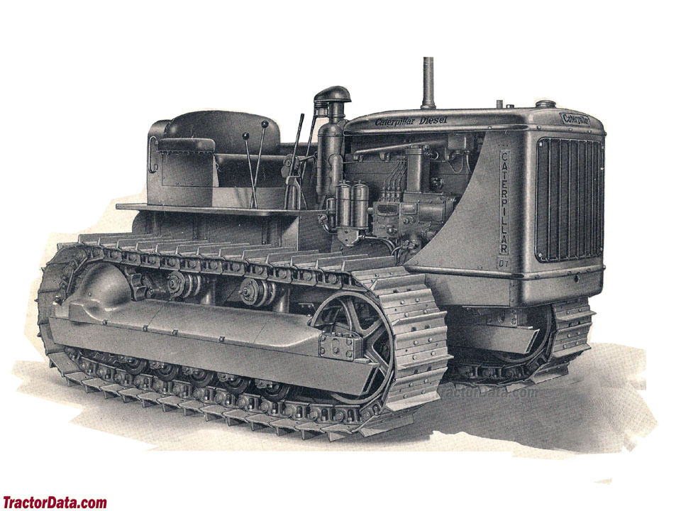 Advertising image of the Caterpillar D7.