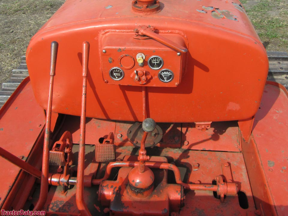 Allis Chalmers S operator station and controls.