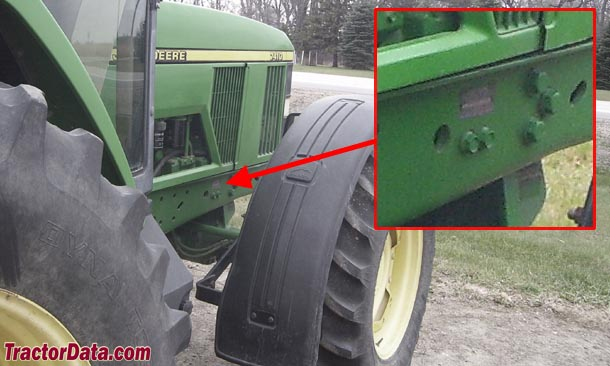 John Deere 7410 serial number location