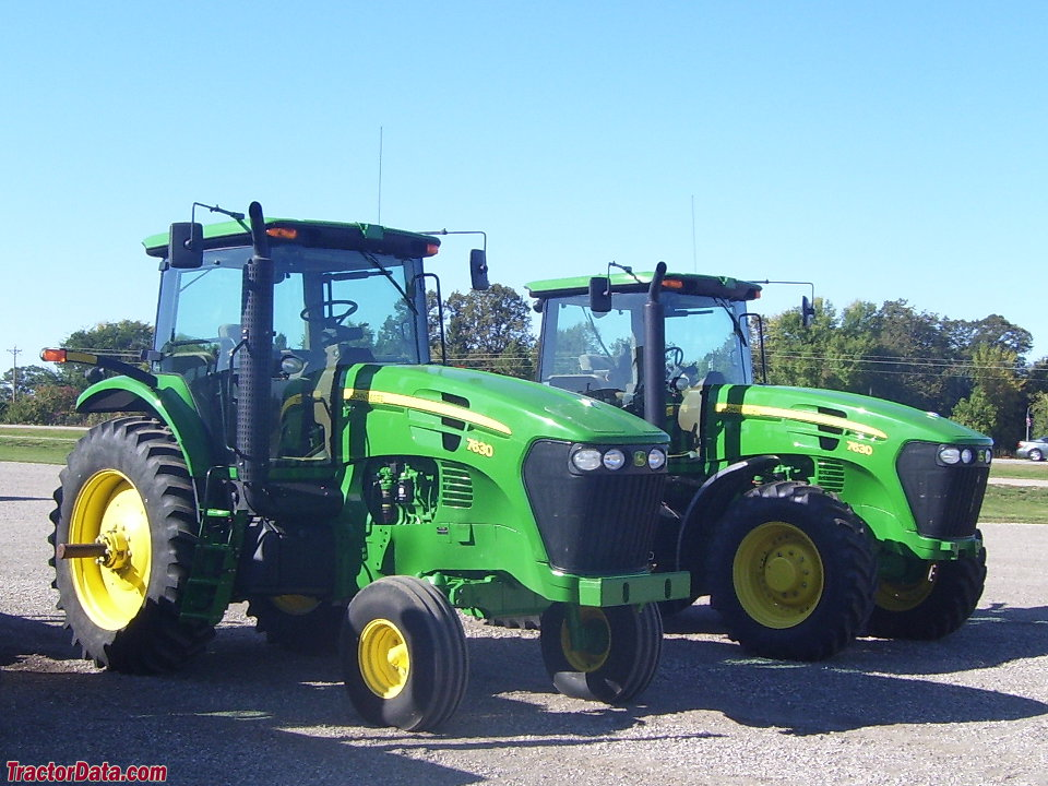Two-wheel and four-wheel drive John Deere 7630 tractors