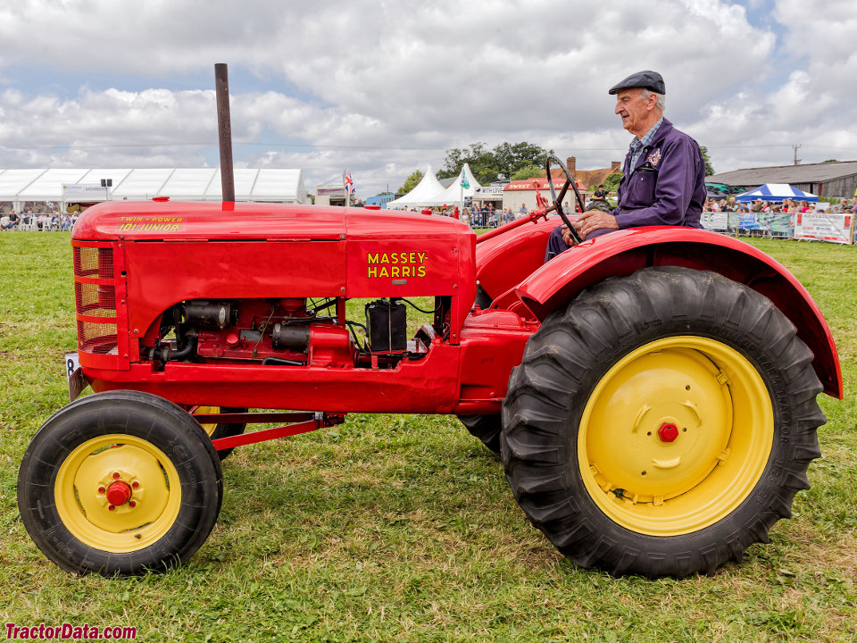 Massey Harris 101 Junior with wide front end.