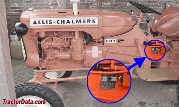 Allis Chalmers FD3 serial number location