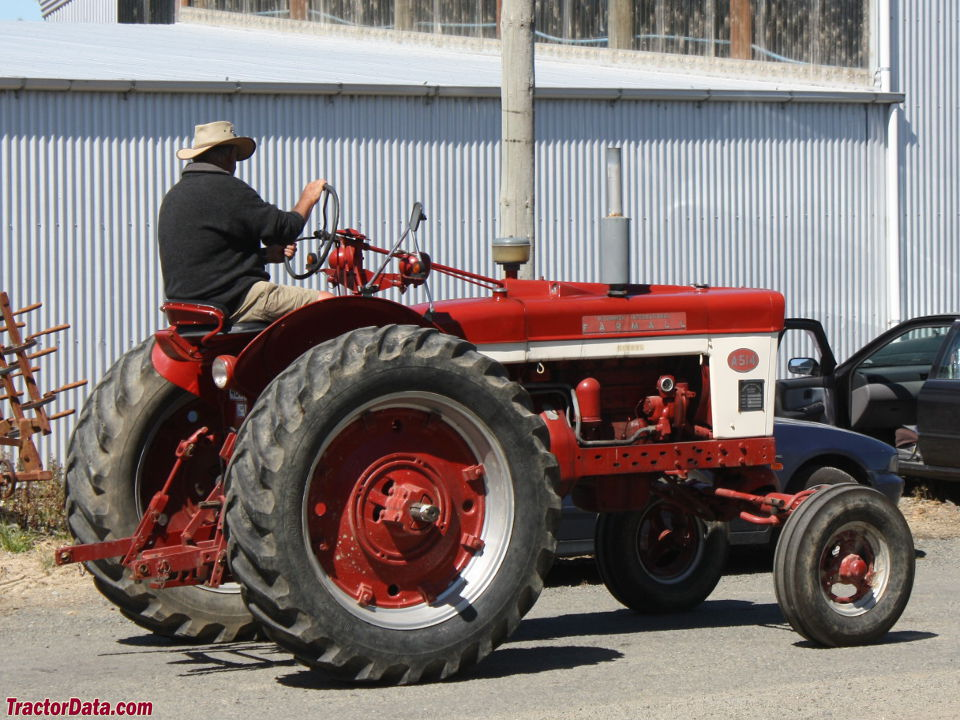 Farmall A-514 with wide front end.