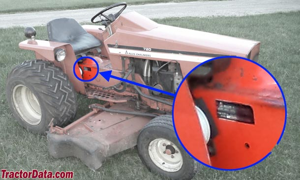 Allis Chalmers 720 serial number location