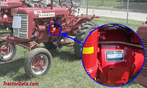 Farmall 130 serial number location
