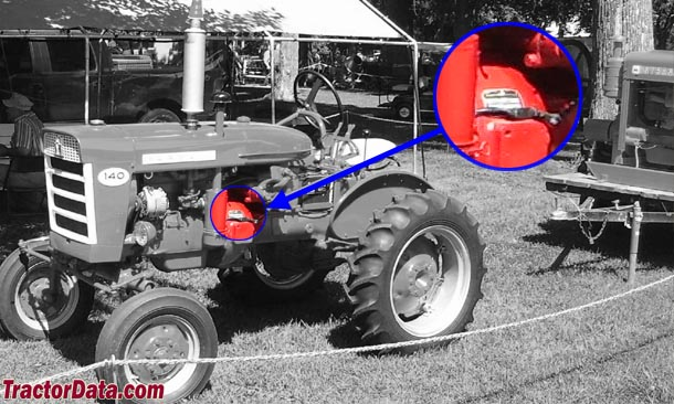 Farmall 140 serial number location
