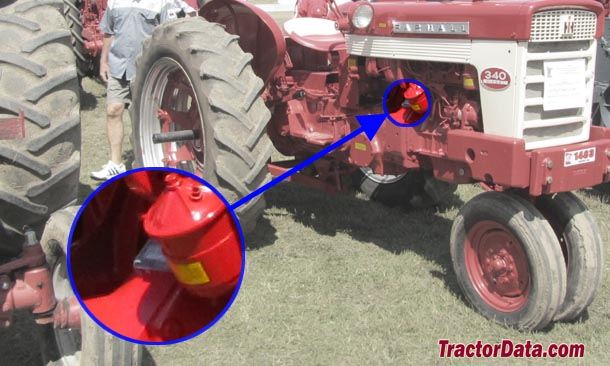Farmall 340 serial number location