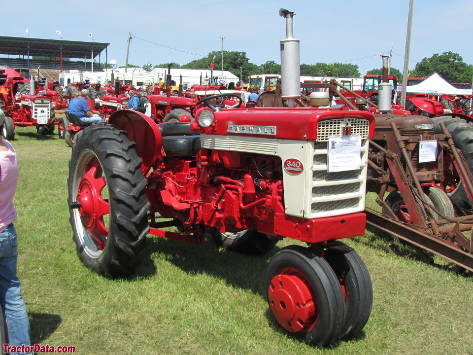 Farmall 340 gasoline with tricycle front end.