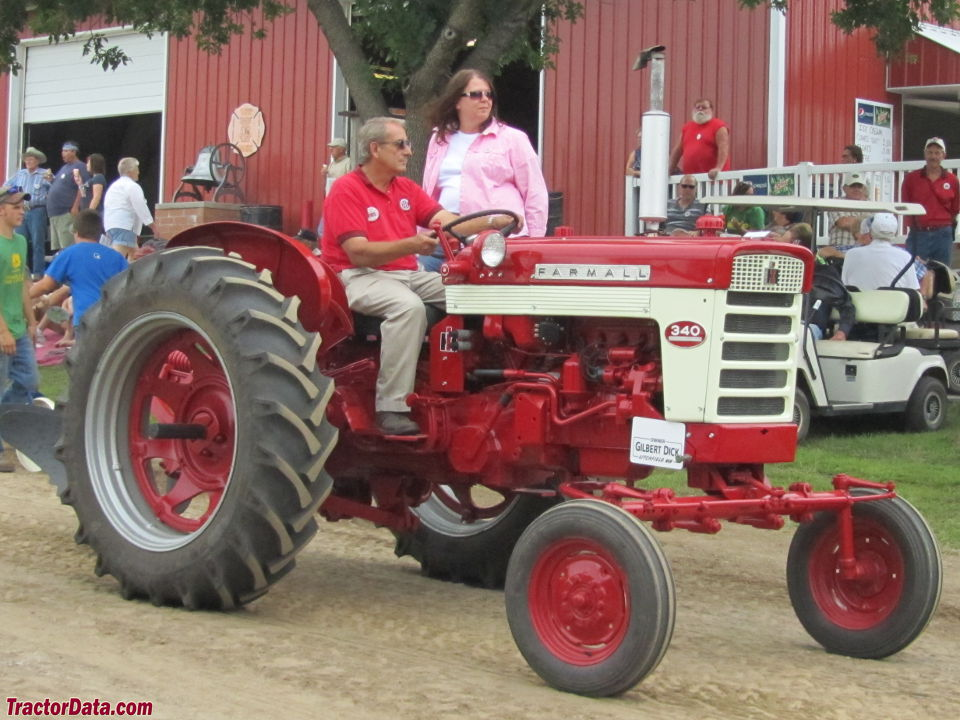Farmall 340 with wide front end.
