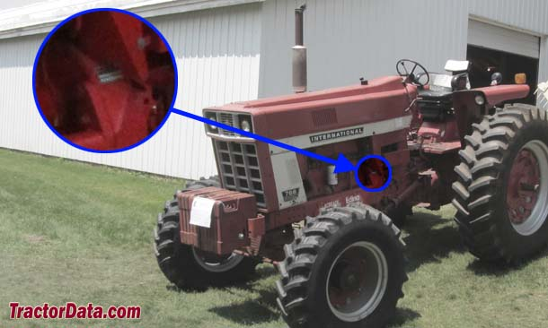 Farmall 766 serial number location
