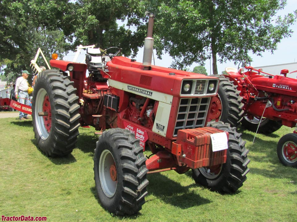Farmall 766 with four-wheel drive.