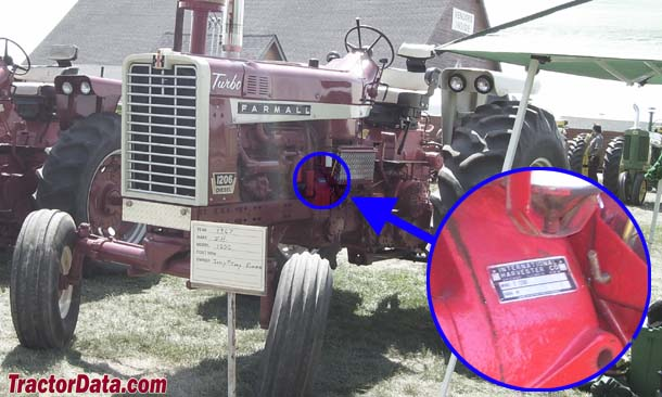 Farmall 1206 serial number location