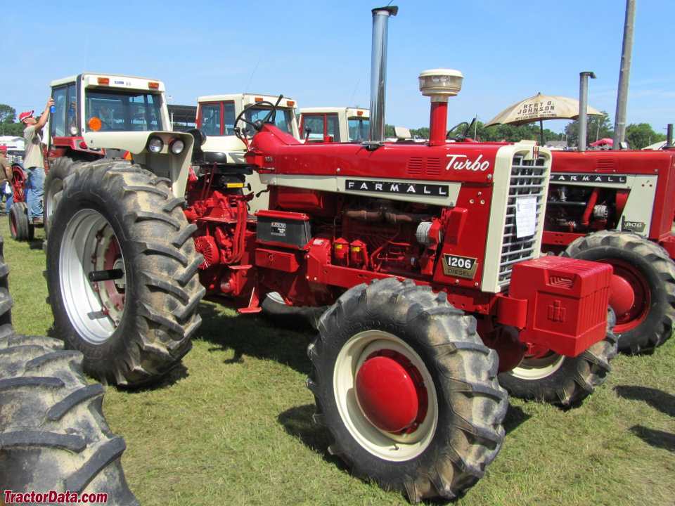 Farmall 1206 with four-wheel drive.