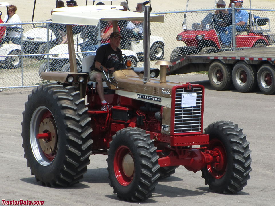 Gold Demonstrator Farmall 1456 with four-wheel drive