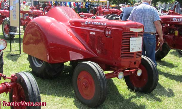 McCormick-Deering O-4 grove tractor, front-right view