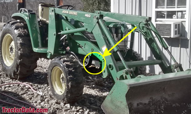 John Deere 4510 serial number location