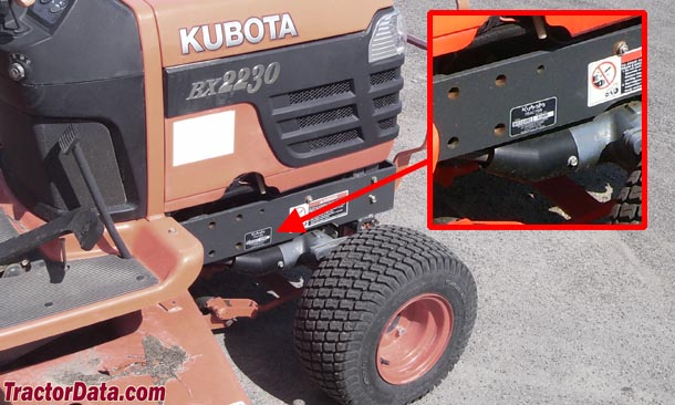 Where To Find Vin Number On Kubota >> Tractordata Com Kubota Bx2230 Tractor Photos Information