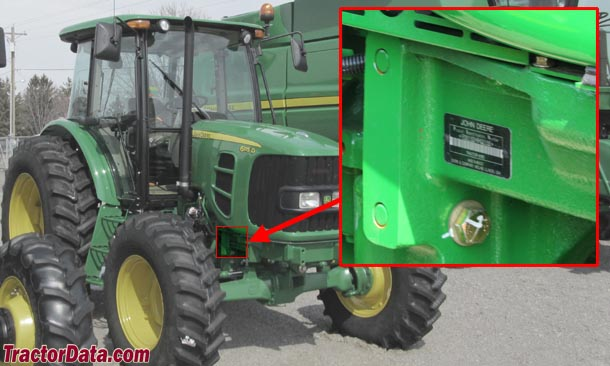 John Deere 6100D serial number location