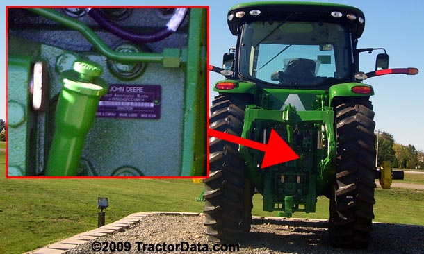 John Deere 8245R serial number location