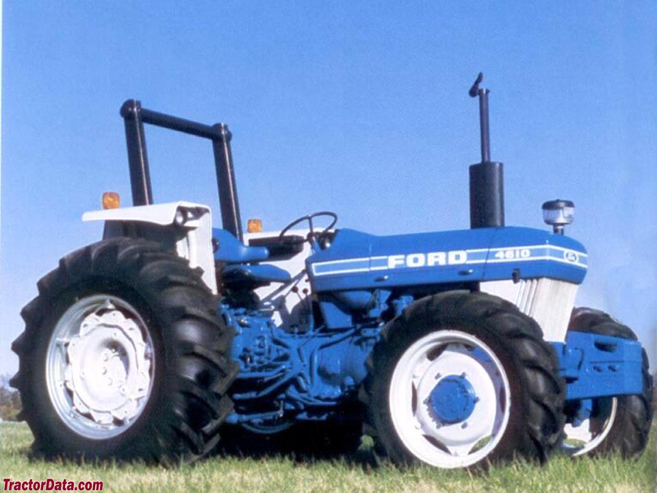 Four-wheel drive 4610 with ROPS.