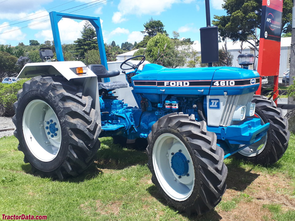 European-style four-wheel drive Ford 4610 II in New Zealand.