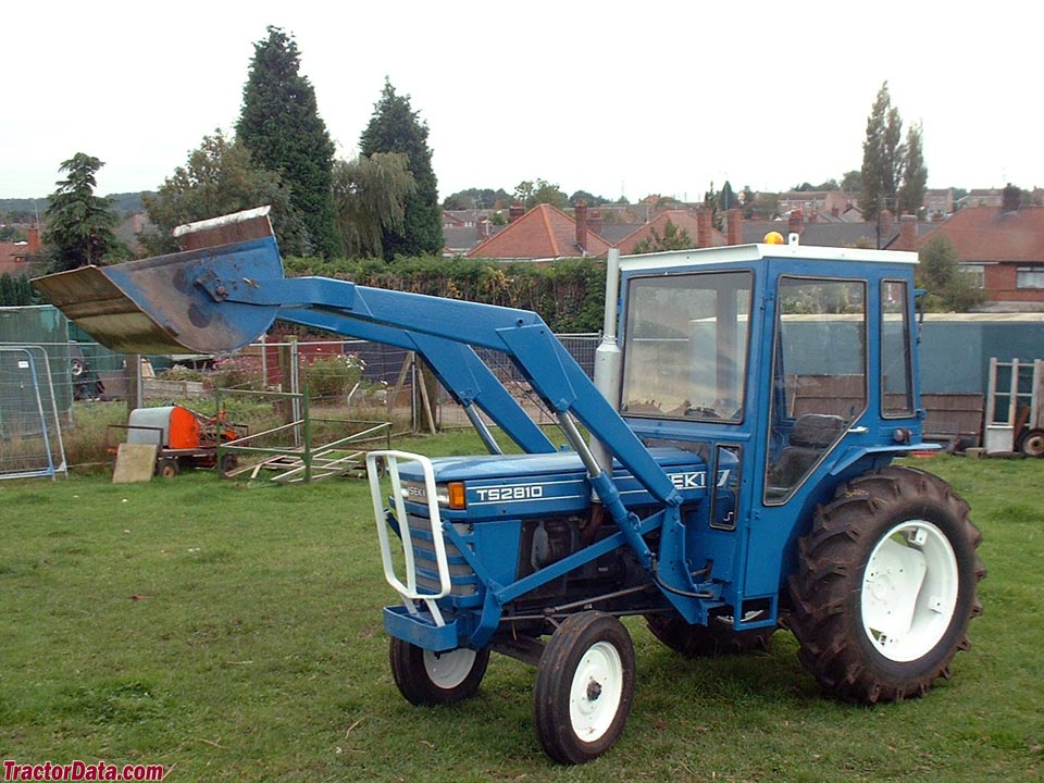 Iseki TS2810 with loader and cab.