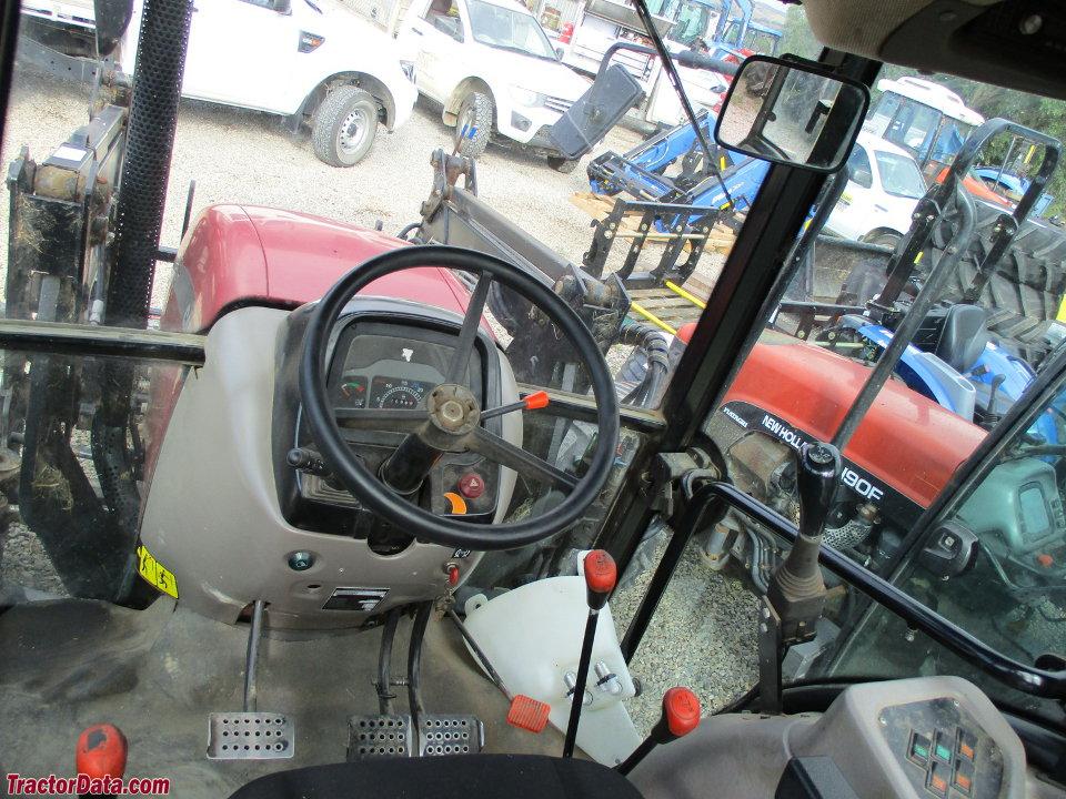 Case IH JX90 cab interior.