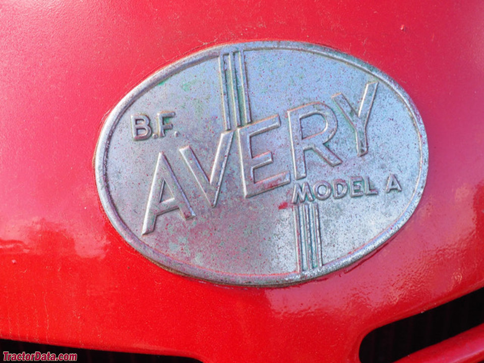 Detail of the B.F. Avery model A hood badge.