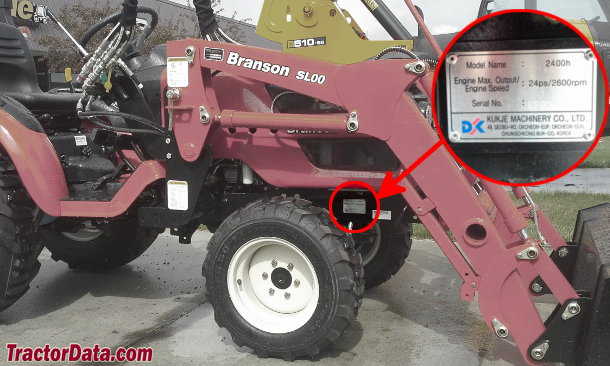 Branson 2400 serial number location