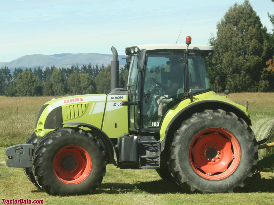 Claas Arion 640, left side.