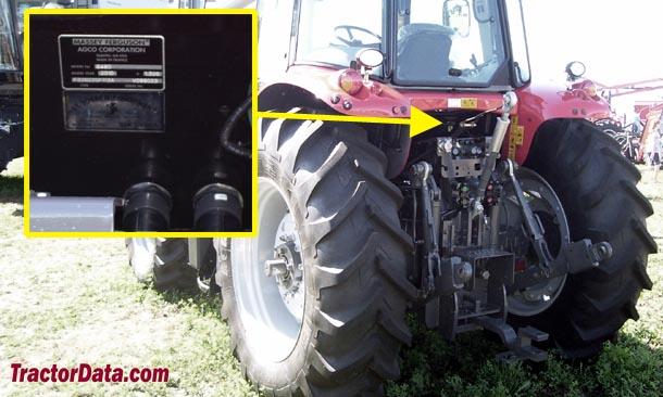 Massey Ferguson 6480 serial number location