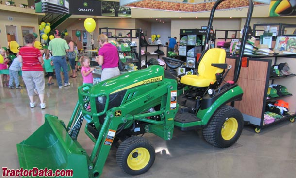 John Deere 1026R, left view