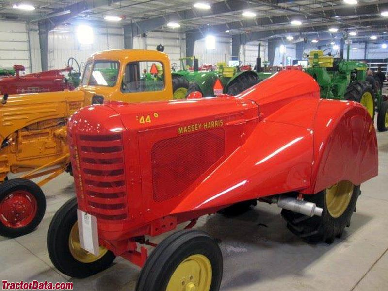 Massey-Harris 44 with orchard fenders.